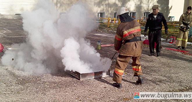Прошли соревнования дружин юных пожарных в Бугульминском муниципальном районе