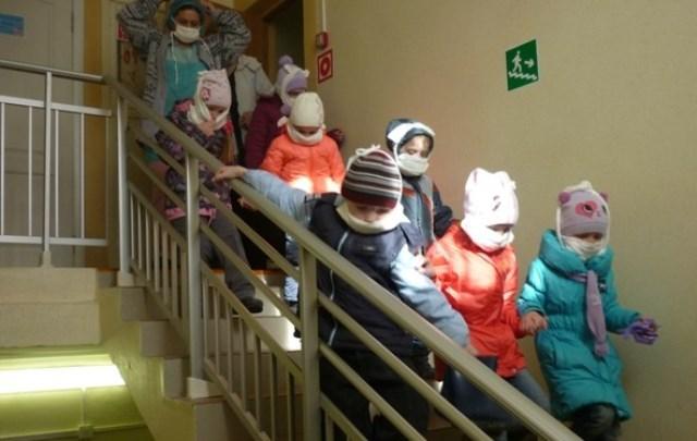 Воспитанники и работники детского сада № 11 эвакуировались из здания из-за «пожара»