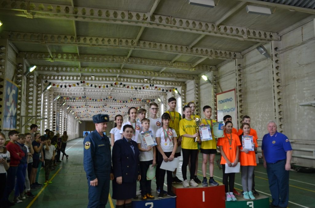 Соревнование по пожарно-спасательному спорту среди школьников  г.Альметьевска