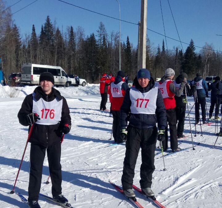 Лыжные гонки с участием команды Сабинского райгоротделения