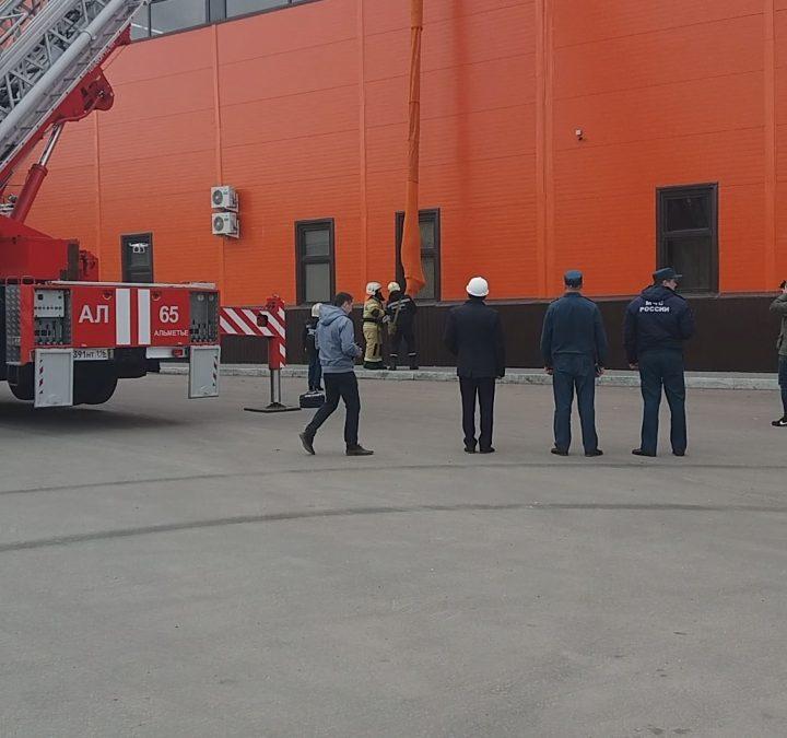 Тренировочная эвакуация в торговом центре «Западный» г.Альметьевска