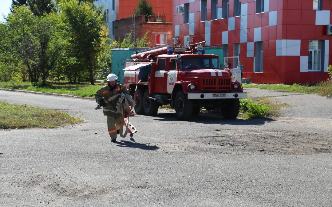 Объектовая тренировка пожарной части «КОМЗ»