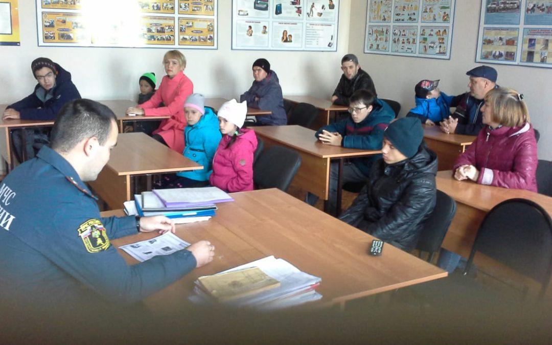 Тренировки по эвакуации людей в реабилитационном центре Арского района