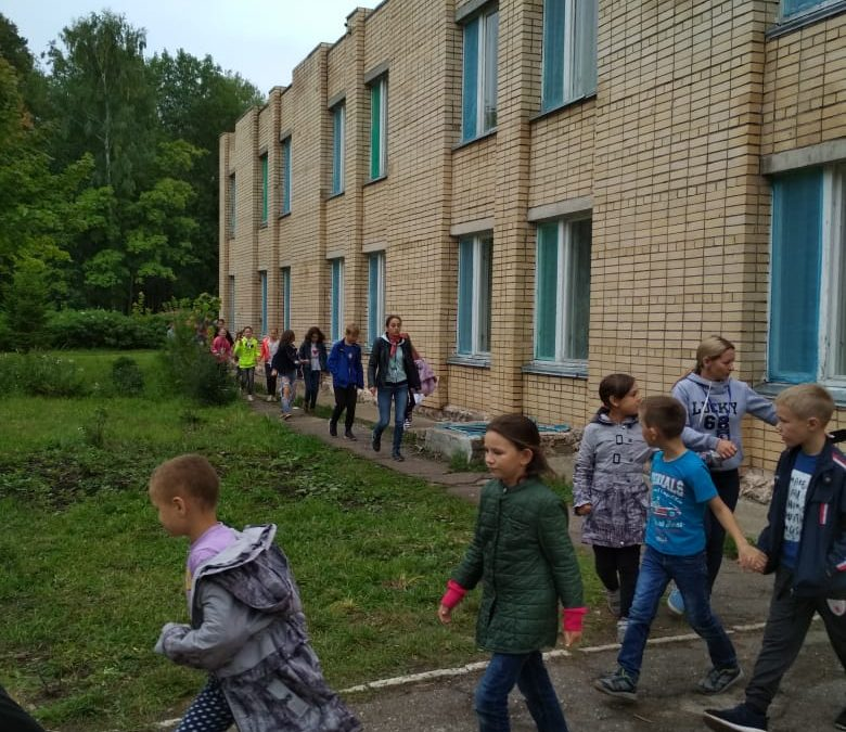 Учебная эвакуация в лагере
