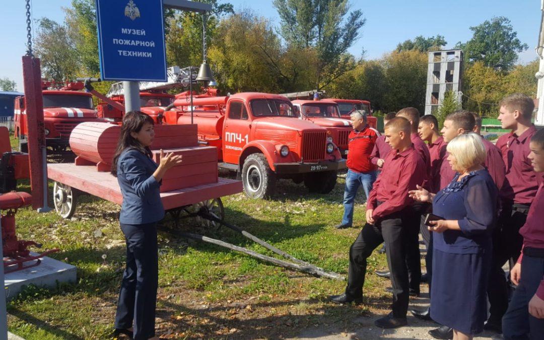 Воспитанники Раифского спецучилища в Музее пожарной охраны Зеленодольска