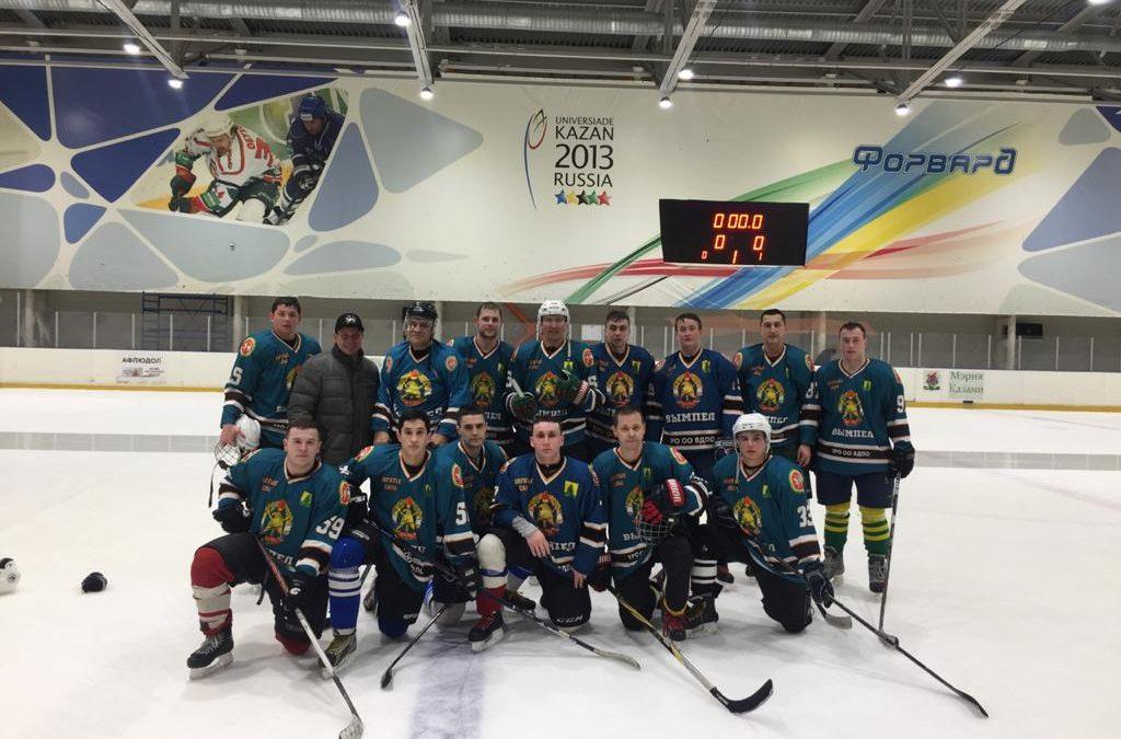 Победа команды по хоккею!