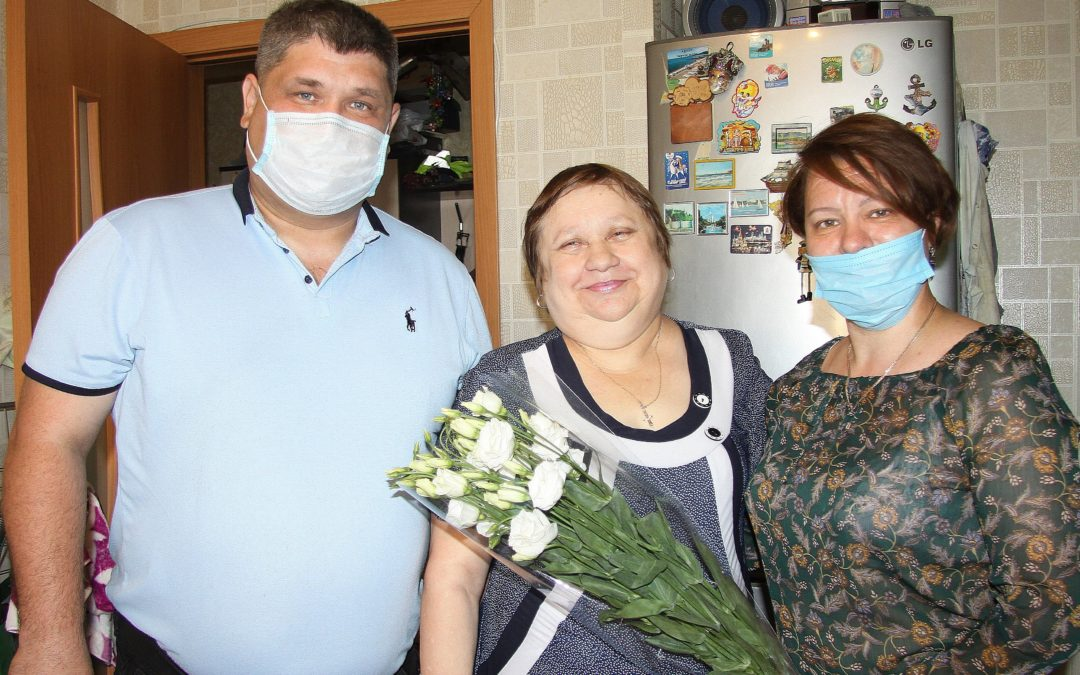 Руководители Зеленодольского межрайонного отделения ТРО ВДПО поздравили  своего ветерана с юбилеем.