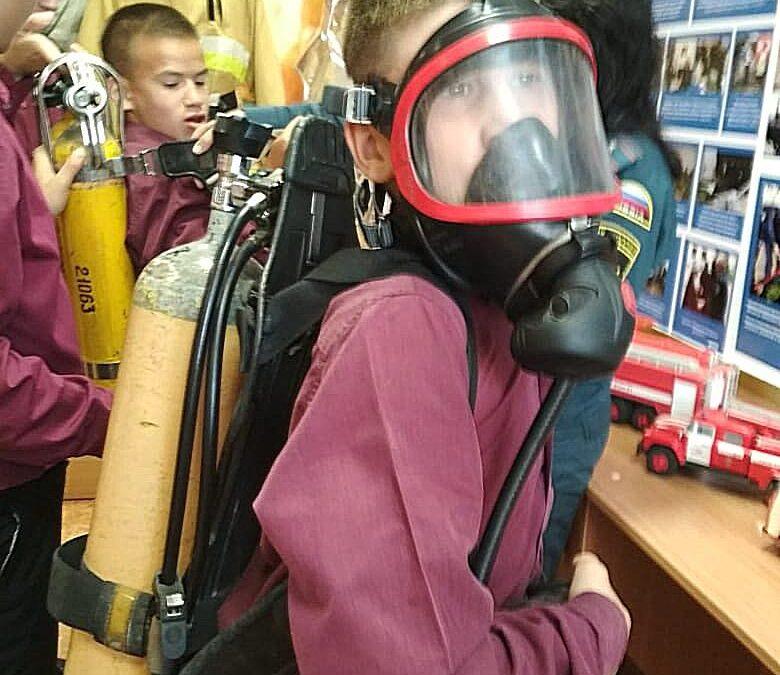 Воспитанники Раифского спец. училища провели конкурс стихов в Музее пожарной охраны Зеленодольска