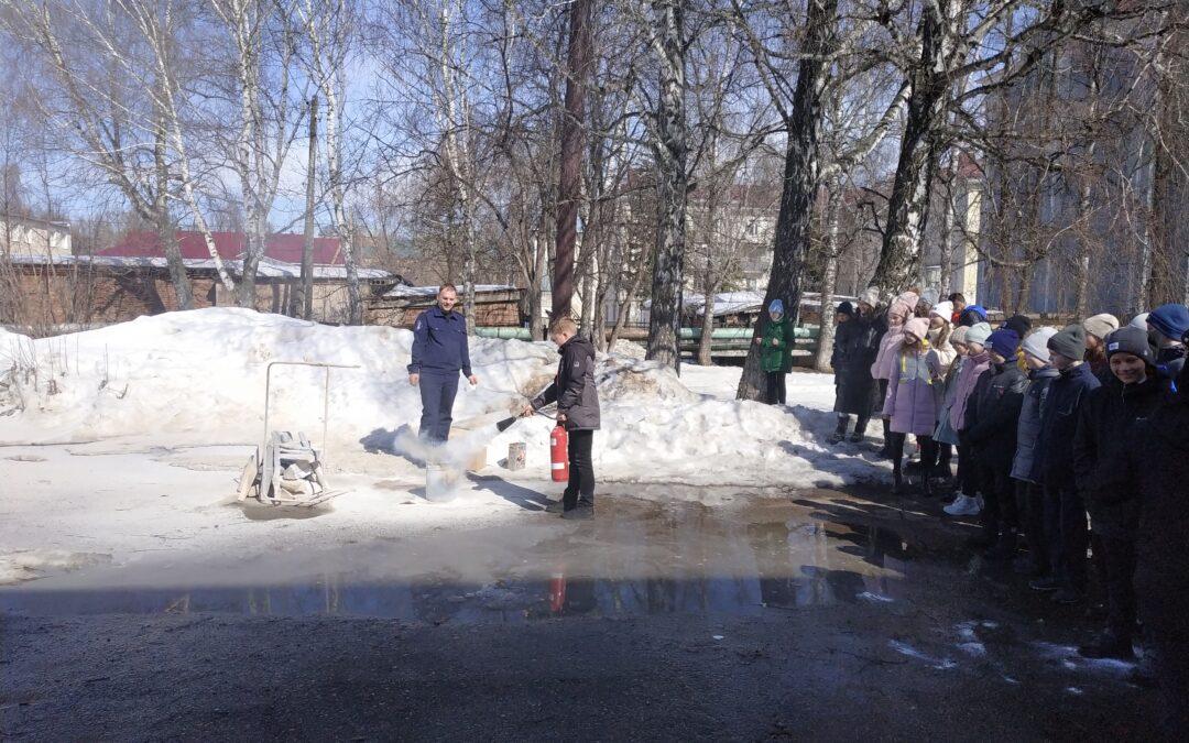 Урок пожарной безопасности в гимназии №7 г.Бугульмы